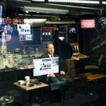 Horowitz in the Studio during a shooting of a cnn segment with Nancy grace
